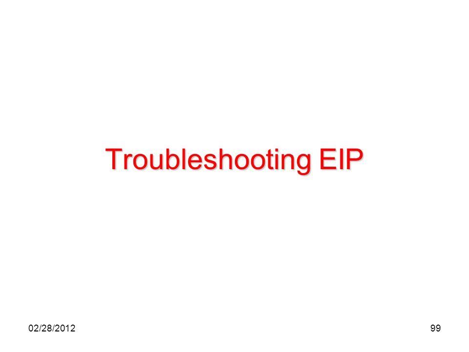99 Troubleshooting EIP 02/28/2012
