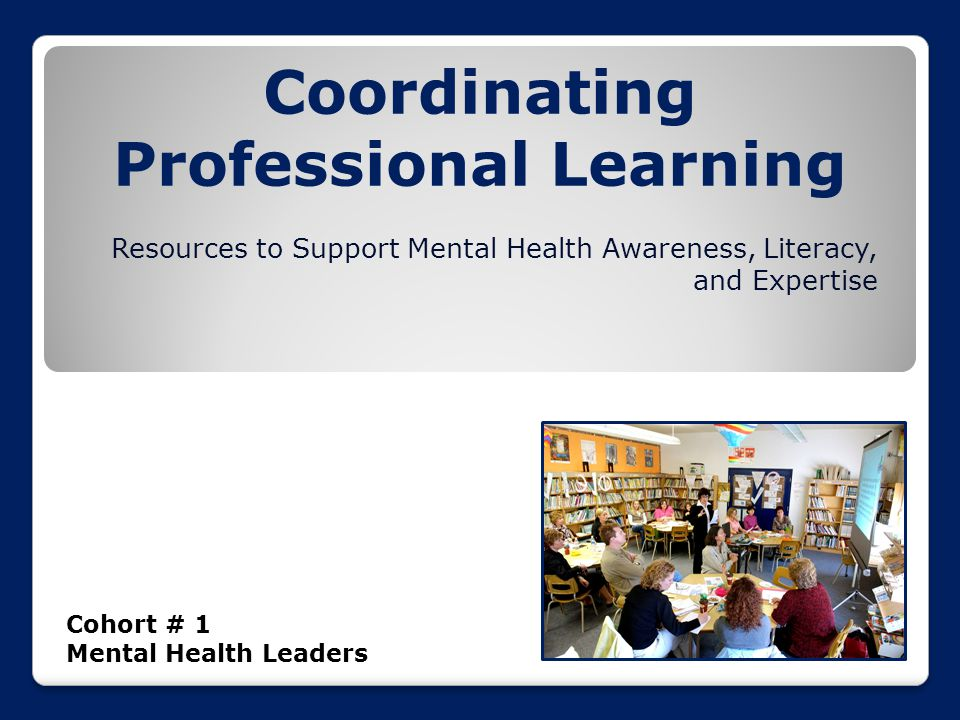 Coordinating Professional Learning Cohort # 1 Mental Health Leaders Resources to Support Mental Health Awareness, Literacy, and Expertise