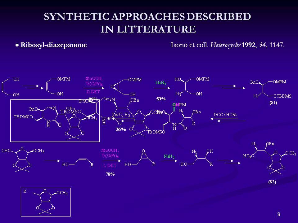 10  Nucleosidyl-diazepanone Knapp et coll.Org. Lett.