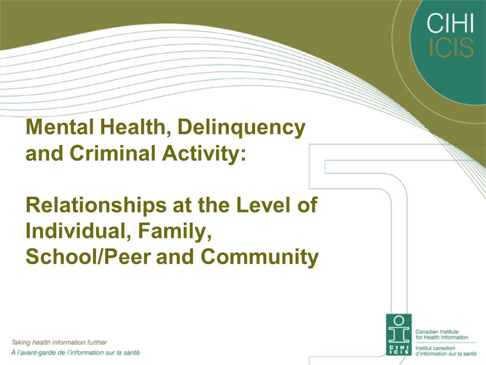 Mental Health, Delinquency and Criminal Activity: Relationships at the Level of Individual, Family, School/Peer and Community