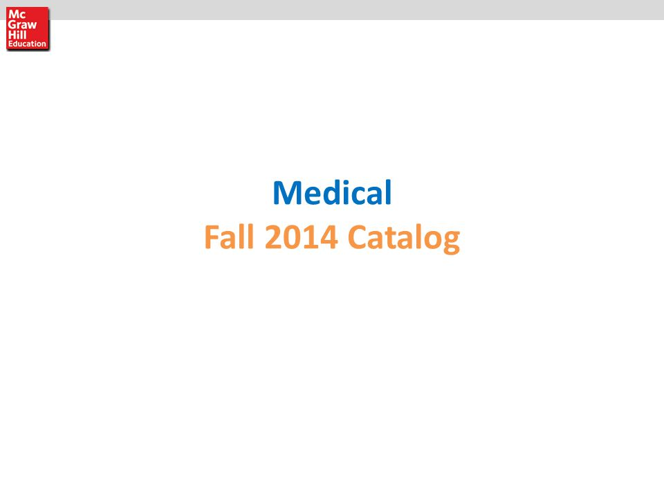 Medical Fall 2014 Catalog