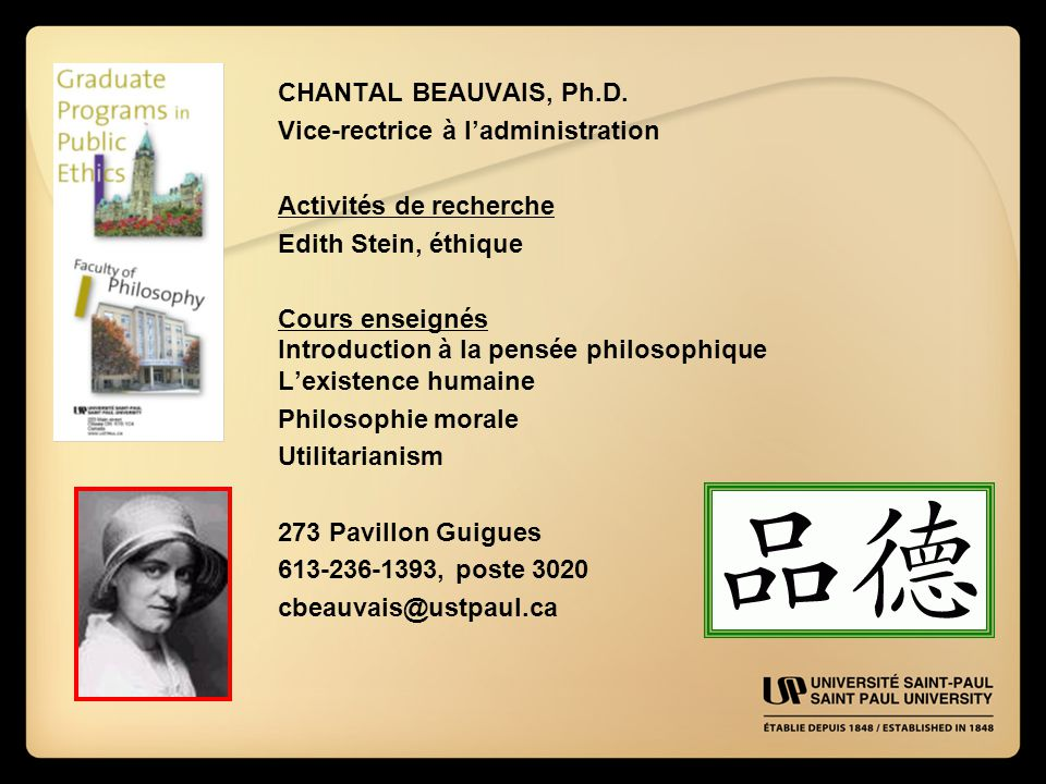 CHANTAL BEAUVAIS, Ph.D.
