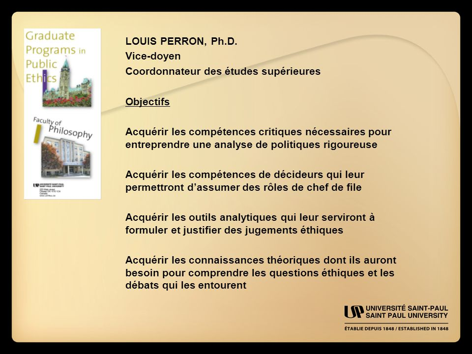 LOUIS PERRON, Ph.D.