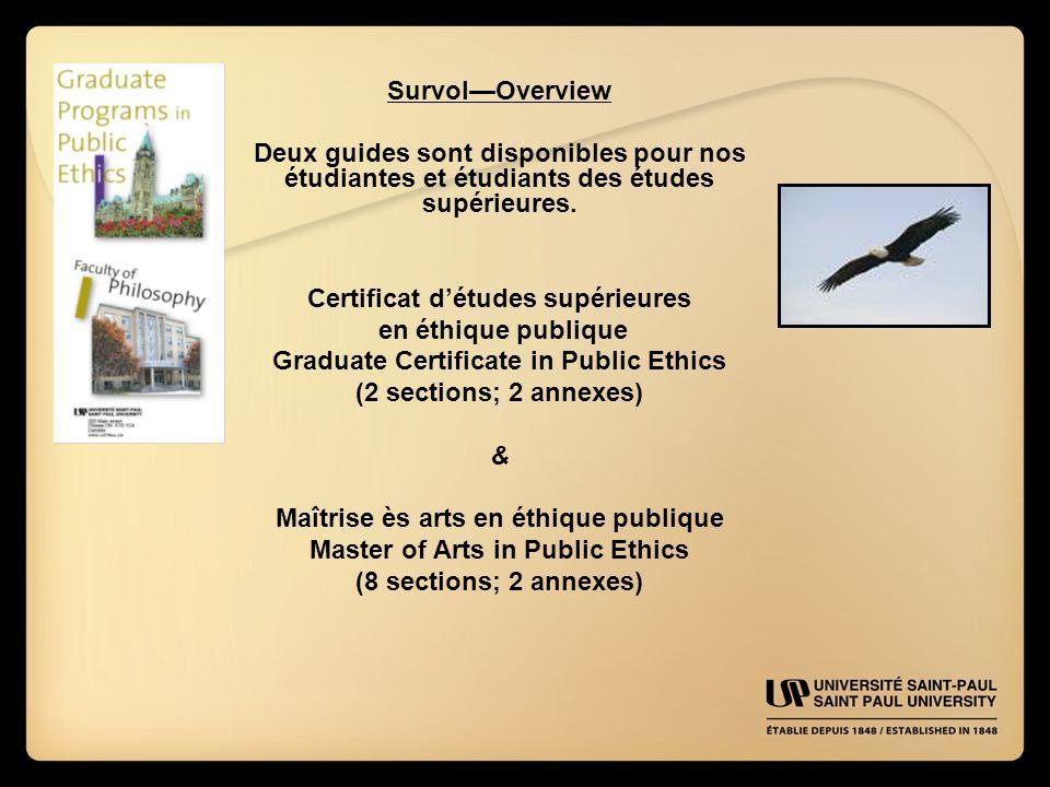 Survol—Overview Deux guides sont disponibles pour nos étudiantes et étudiants des études supérieures.