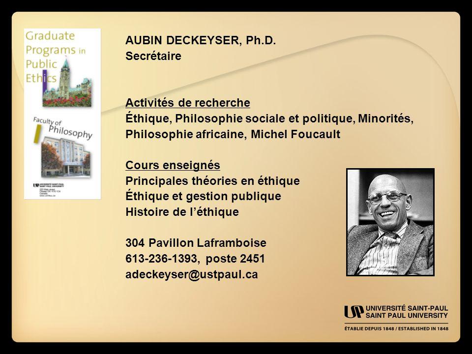 AUBIN DECKEYSER, Ph.D.