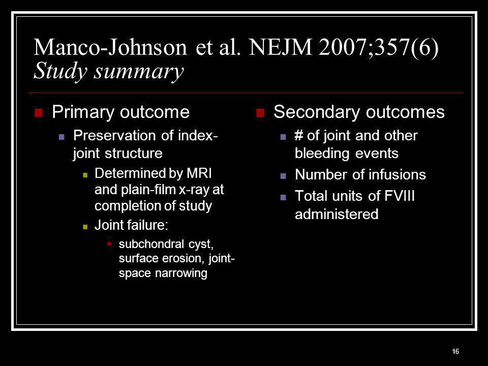 16 Manco-Johnson et al.