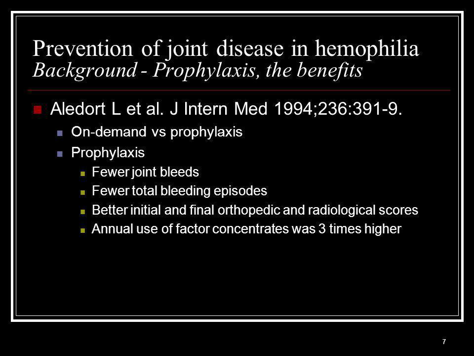 28 Manco-Johnson et al. NEJM 2007;357(6) Study summary - Results