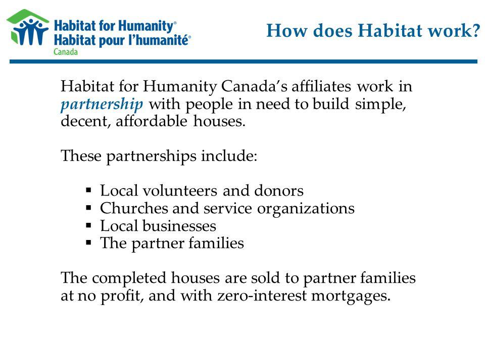 How does Habitat work.