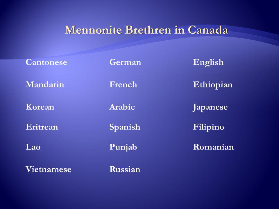 CantoneseGermanEnglish MandarinFrench Ethiopian KoreanArabicJapanese Eritrean Spanish Filipino Lao Punjab Romanian VietnameseRussian Mennonite Brethre