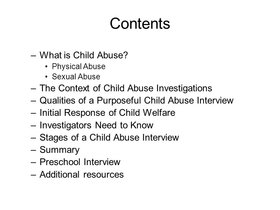 Sexual Abuse Sexual abuse allegations can be uncomfortable to discuss –for children and youth –for professionals