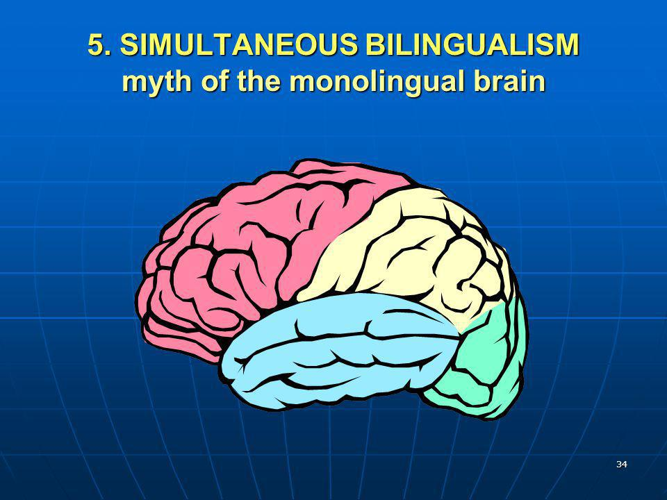 34 5. SIMULTANEOUS BILINGUALISM myth of the monolingual brain