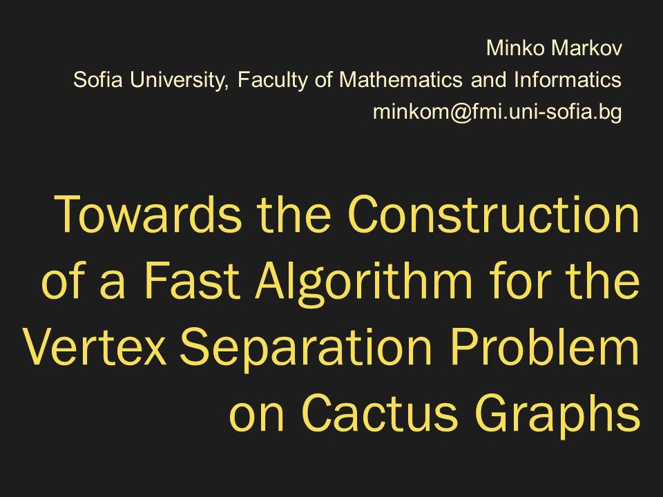 RVS of Boundaried Cacti  Theorem: Let G be a boundaried cactus, boundary ‹U, W›, and m ≥ 1.
