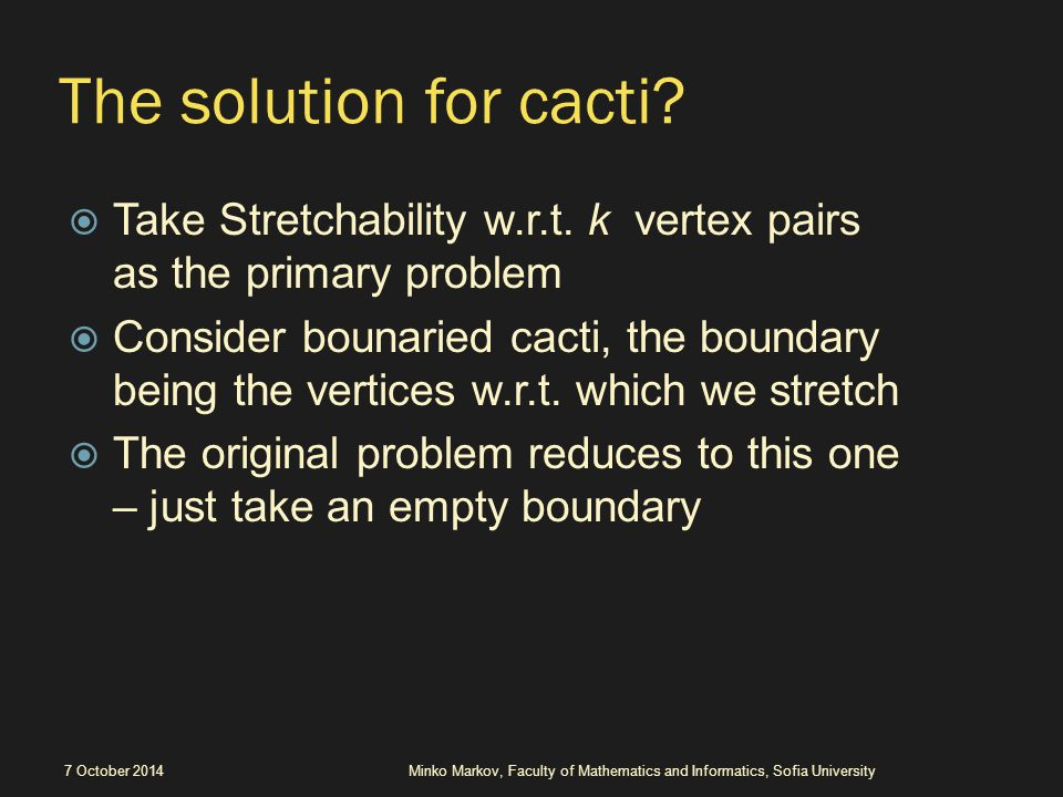 The solution for cacti.  Take Stretchability w.r.t.