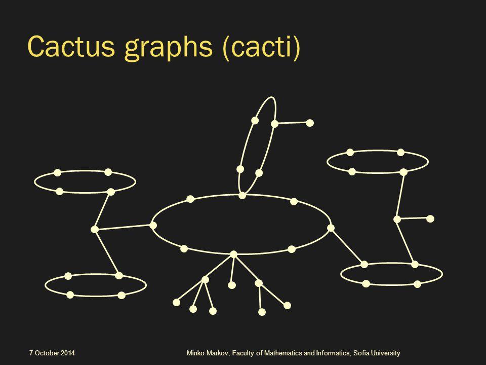 Rooted Cacti 7 October 2014Minko Markov, Faculty of Mathematics and Informatics, Sofia University
