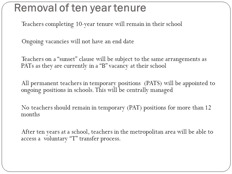 Open Advertisement of positions All permanent (ongoing) vacancies that have been declared by schools in the initial stage will be advertised All teachers, both permanent and temporary (contract),will be able to apply for these positions and will be considered equally in the selection process Teachers who are eligible to apply for advertised positions: Teachers who meet minimum DECS requirements by the start of the appointment Teachers in at least their second year of permanency Country scholarship PATs in their first year can only apply for country positions