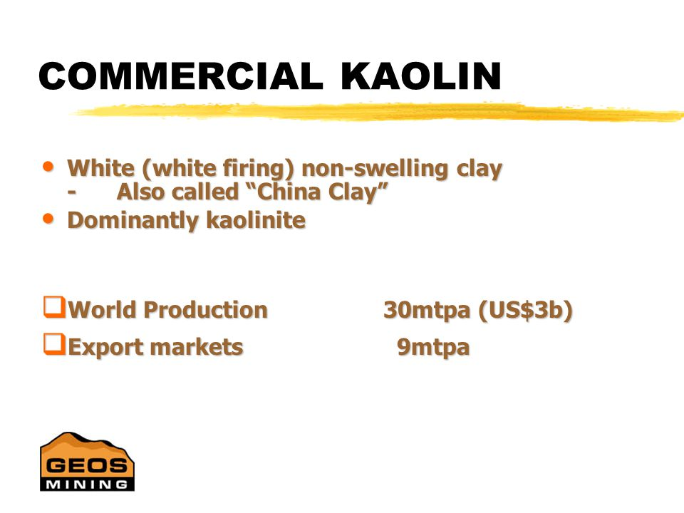 KAOLIN NOT JUST FOR INDIGESTION…. Sue Border