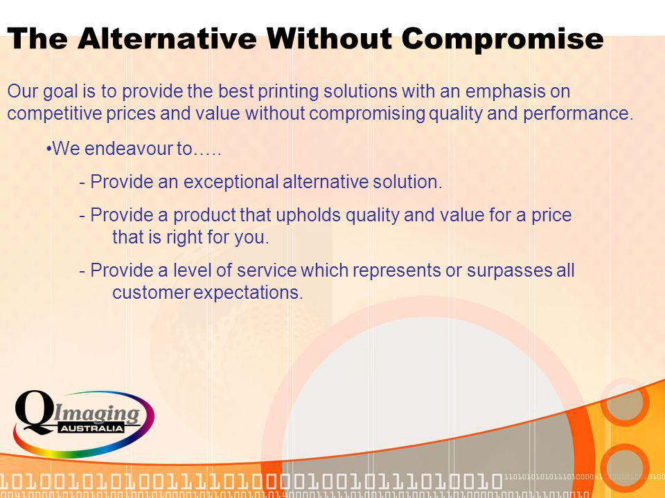 About Us Established in March 2003. Highly recognized and respected within the market. We provide the latest printing and imaging consumables through