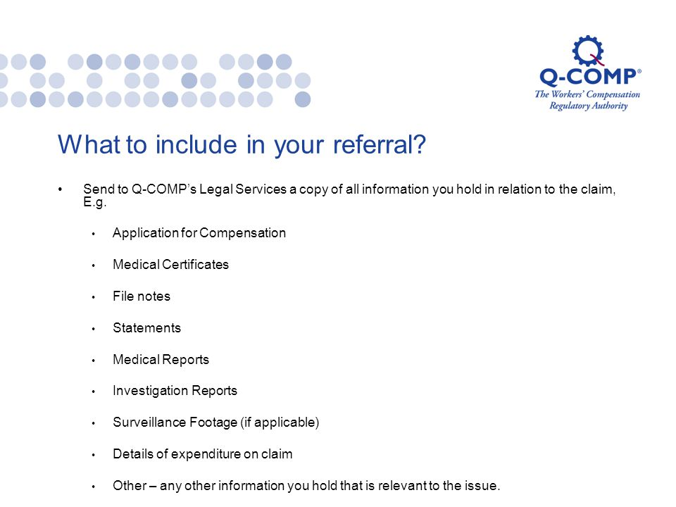 What to include in your referral.