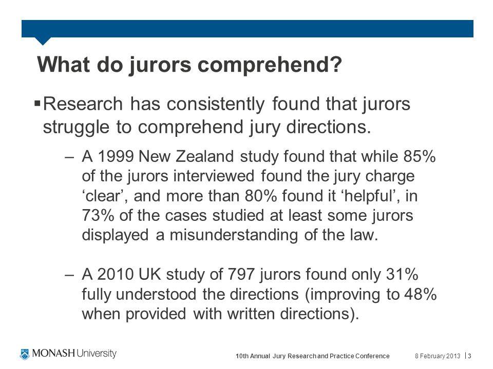 What do jurors comprehend.