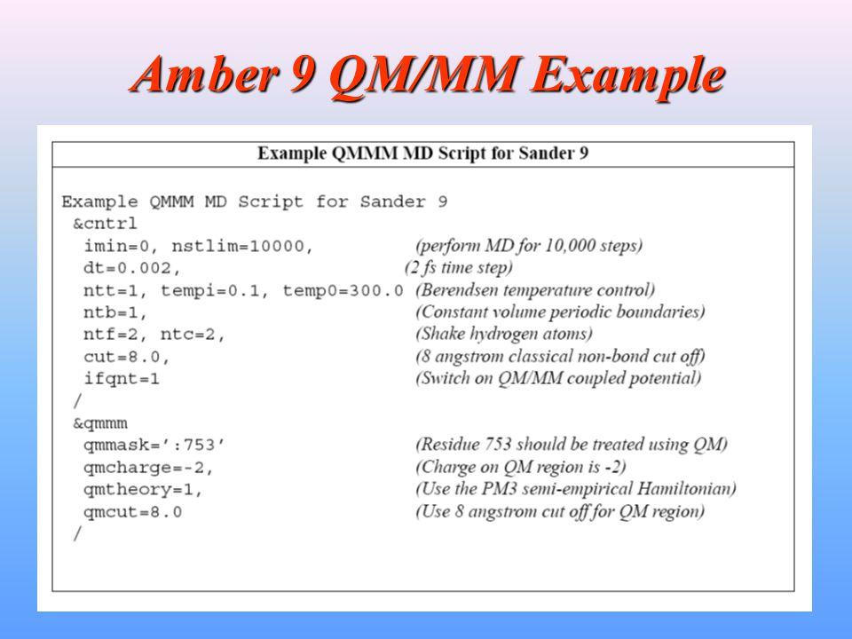Amber 9 QM/MM Example