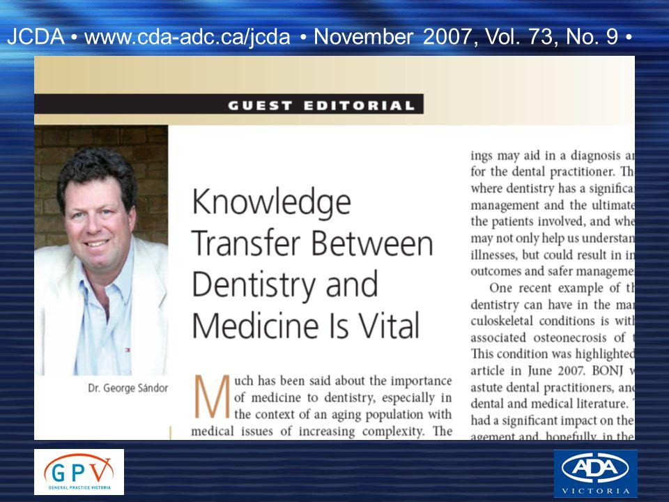 JCDA www.cda-adc.ca/jcda November 2007, Vol. 73, No. 9