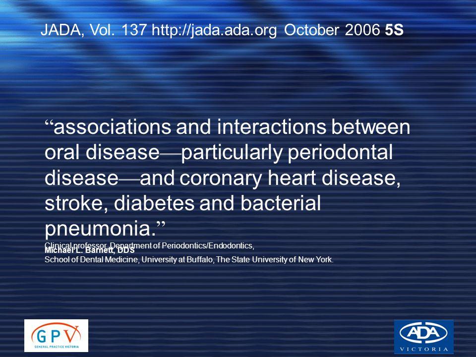 JADA, Vol. 137 http://jada.ada.org October 2006 5S Clinical professor, Department of Periodontics/Endodontics, School of Dental Medicine, University a