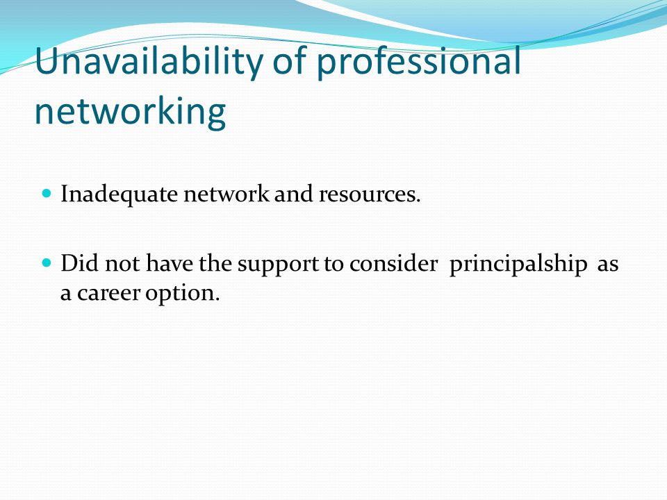 Lack of career planning Participants in this study had no experience of career planning and were not engaged in this towards principal positions They had been promoted serendipitously They were not being given support for this from other professionals I fell into this relieving job as a senior teacher and while I was at that school the AP job came up and I was appointed and then the DP fell ill and I was put in acting DP's the DP passed away and our principal restructured...