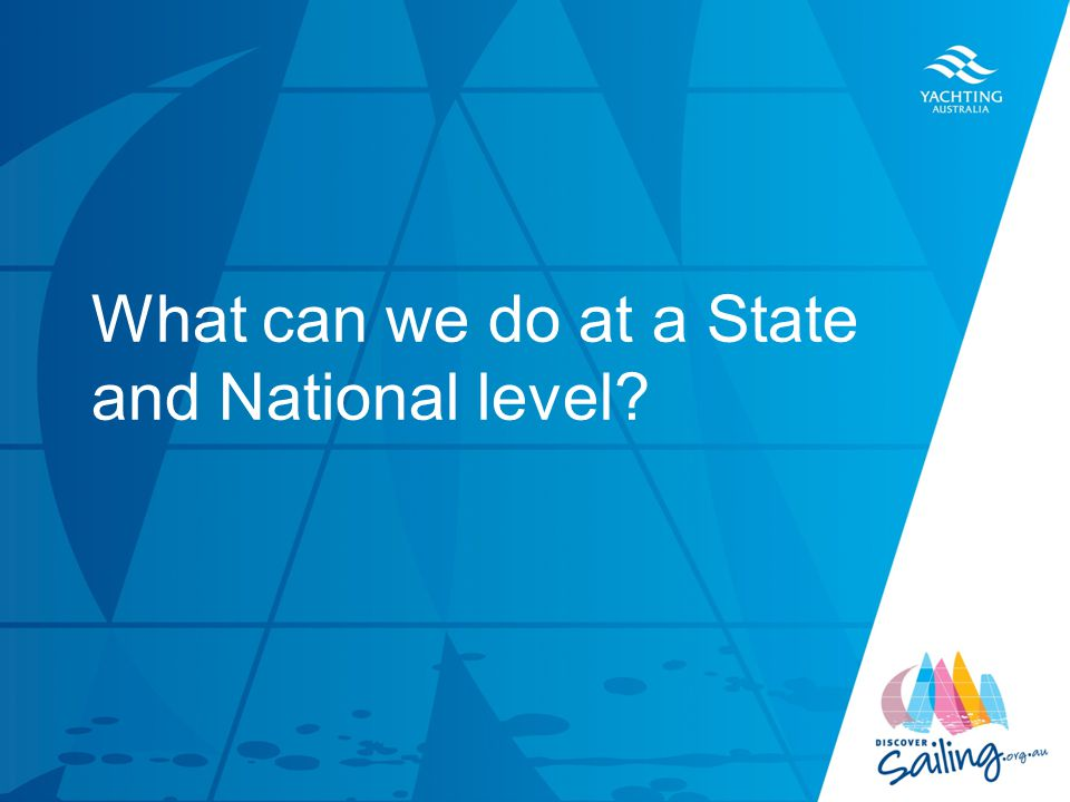 TITLE DATE What can we do at a State and National level?