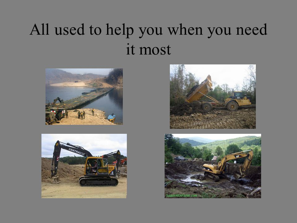 All used to help you when you need it most