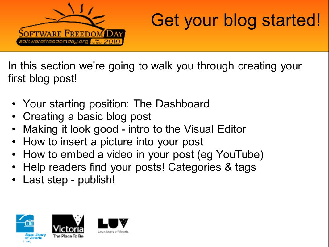 Get your blog started.