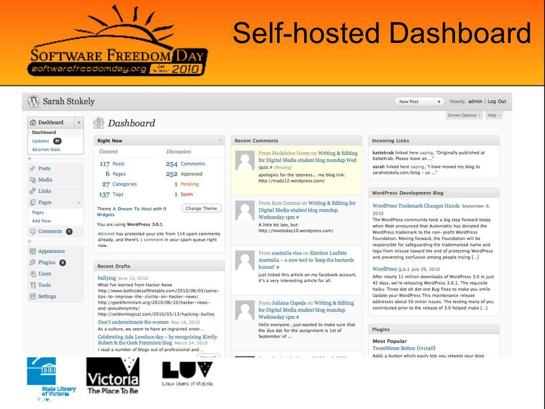 Self-hosted Dashboard