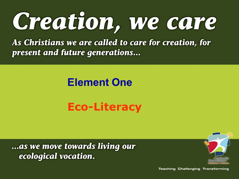 Eco-Literacy Element One
