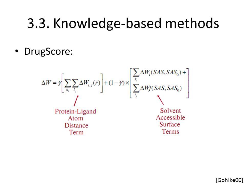 3.3. Knowledge-based methods DrugScore: [Gohlke00]