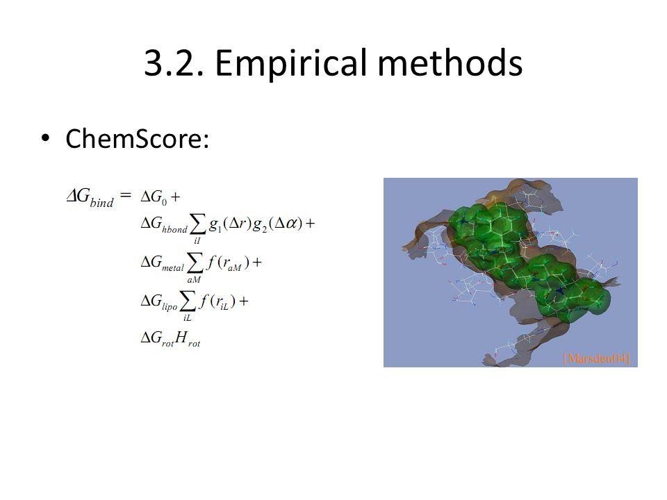 3.2. Empirical methods ChemScore:
