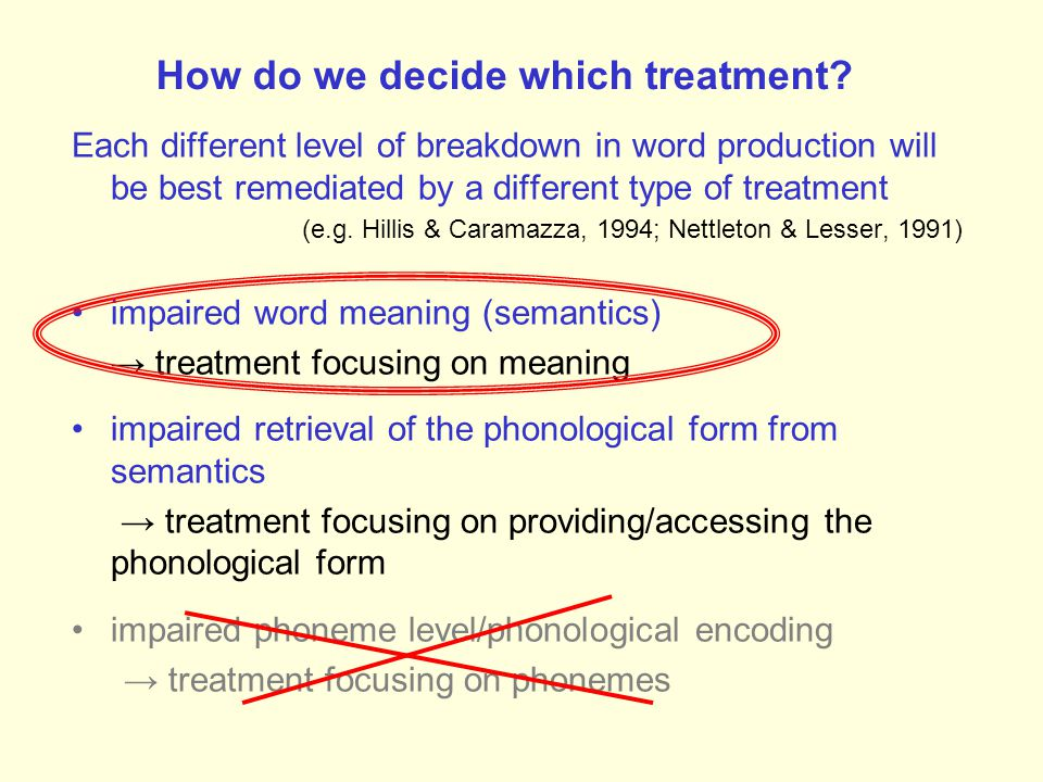 How do we decide which treatment.
