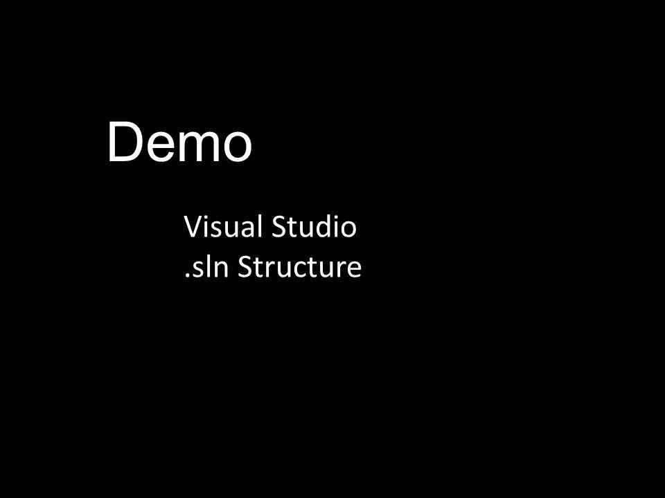 Demo Visual Studio.sln Structure