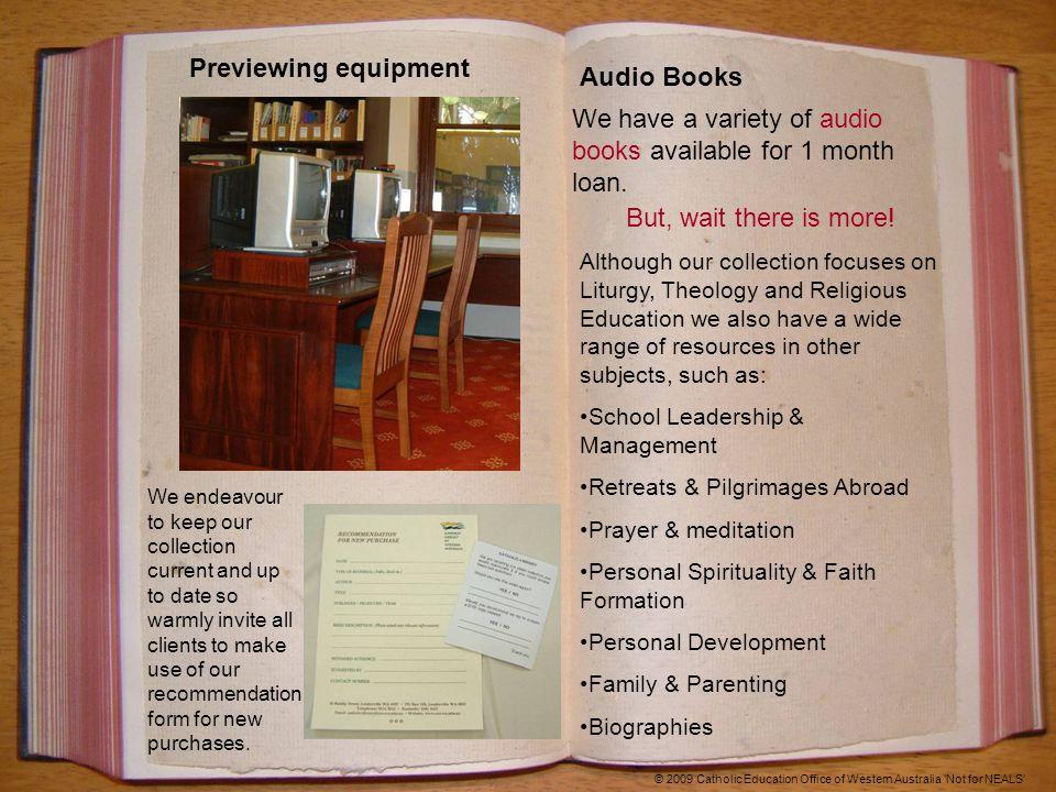 © 2009 Catholic Education Office of Western Australia 'Not for NEALS' Australian Aboriginal AV Resources Published by Innovative Resource, Bendigo, Vic.