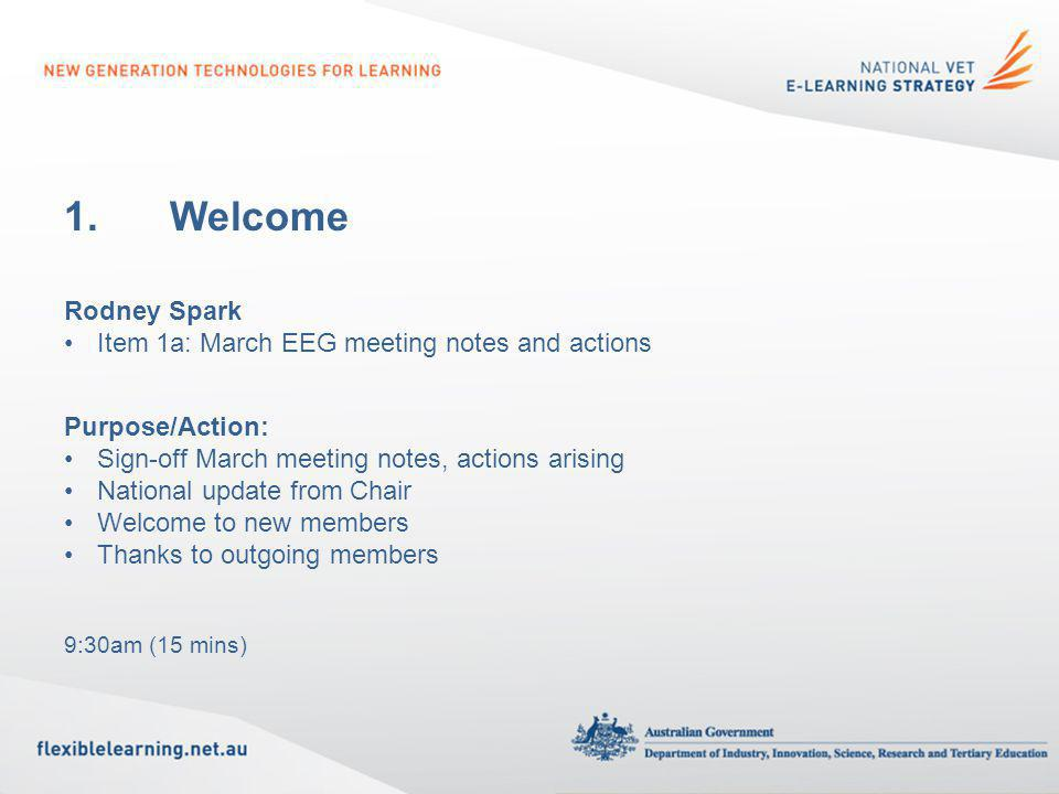 2.Emerging Technology Trials Bronwyn Lapham Purpose/Action: For your information 9:45am (30 mins)