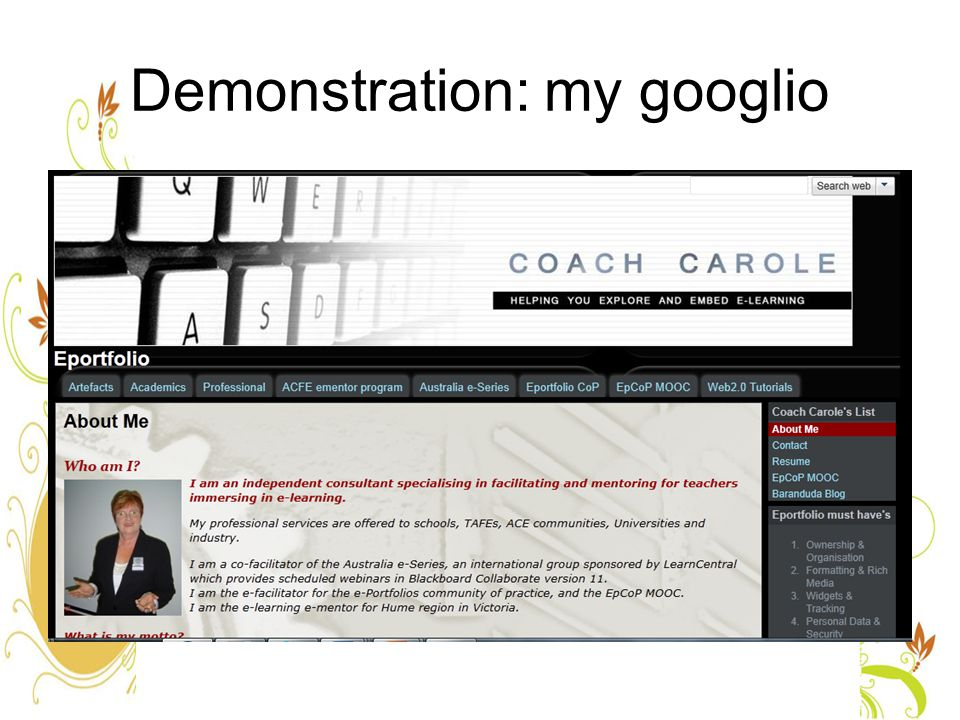 Demonstration: my googlio