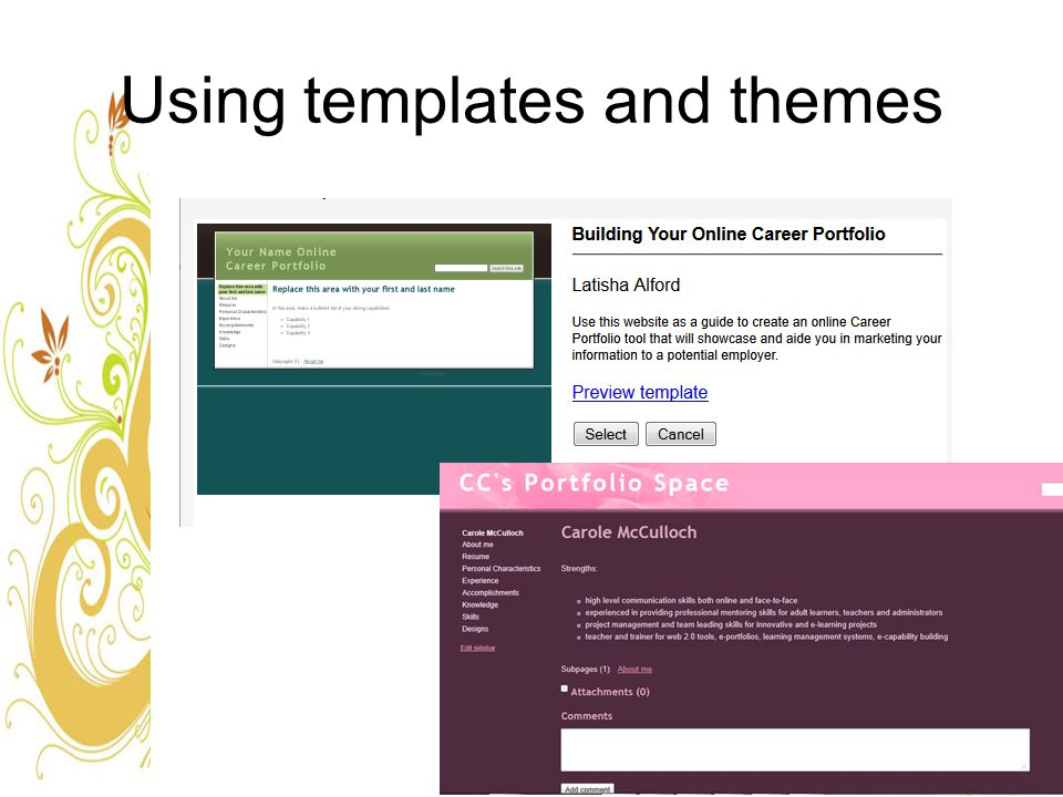 Using templates and themes
