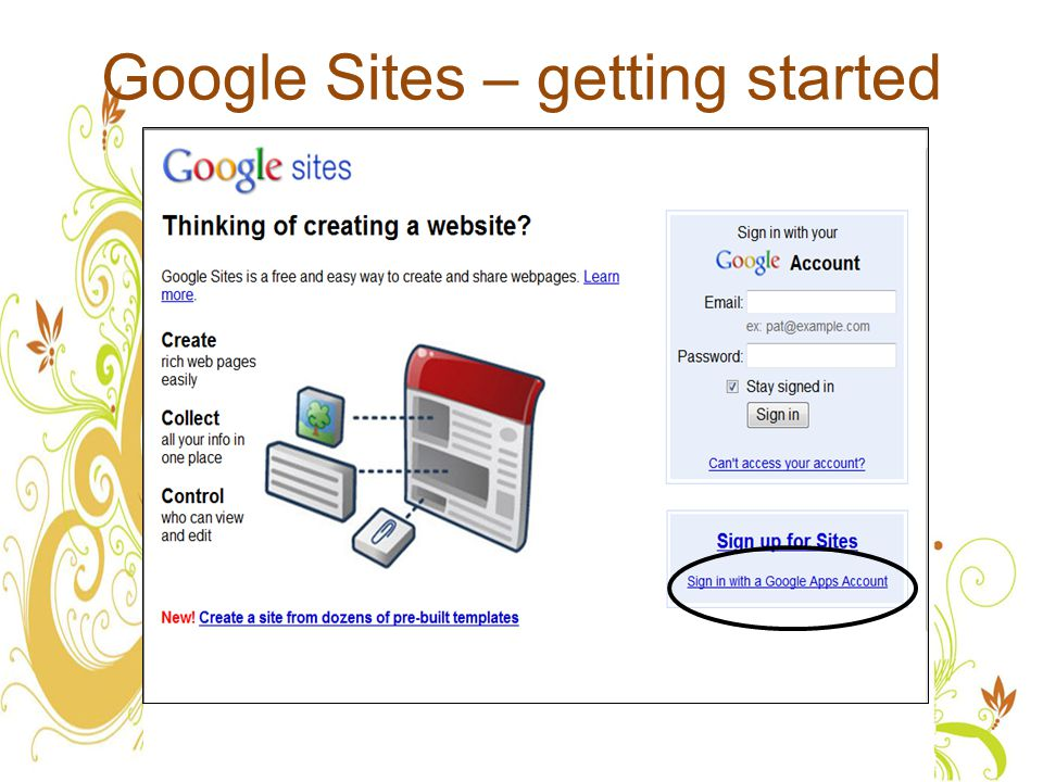 Google Sites – getting started