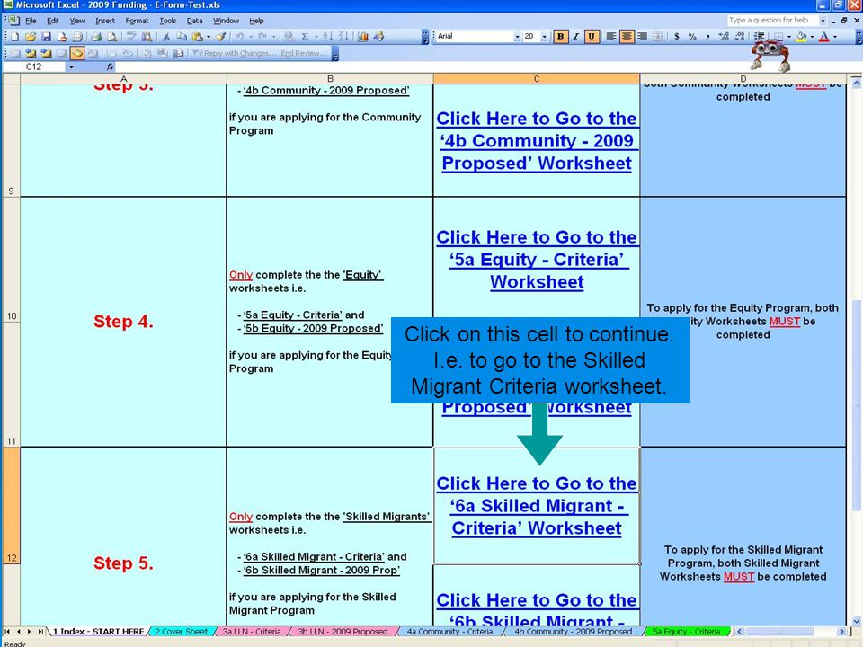 Click on this cell to continue. I.e. to go to the Skilled Migrant Criteria worksheet.