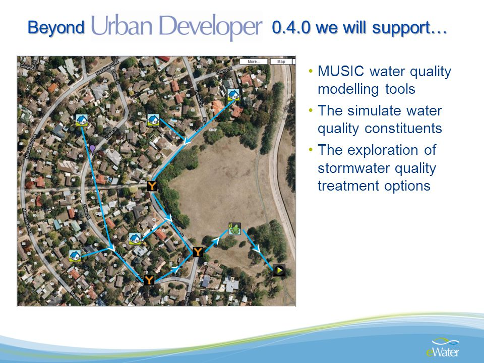 MUSIC water quality modelling tools The simulate water quality constituents The exploration of stormwater quality treatment options Beyond 0.4.0 we will support…