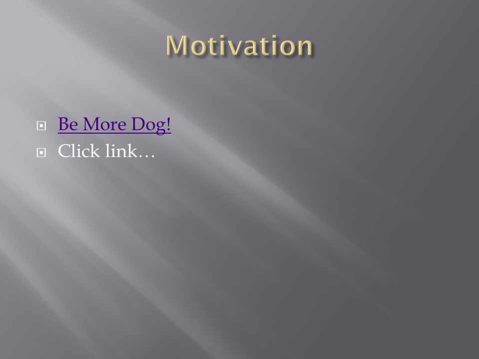  Be More Dog! Be More Dog!  Click link…