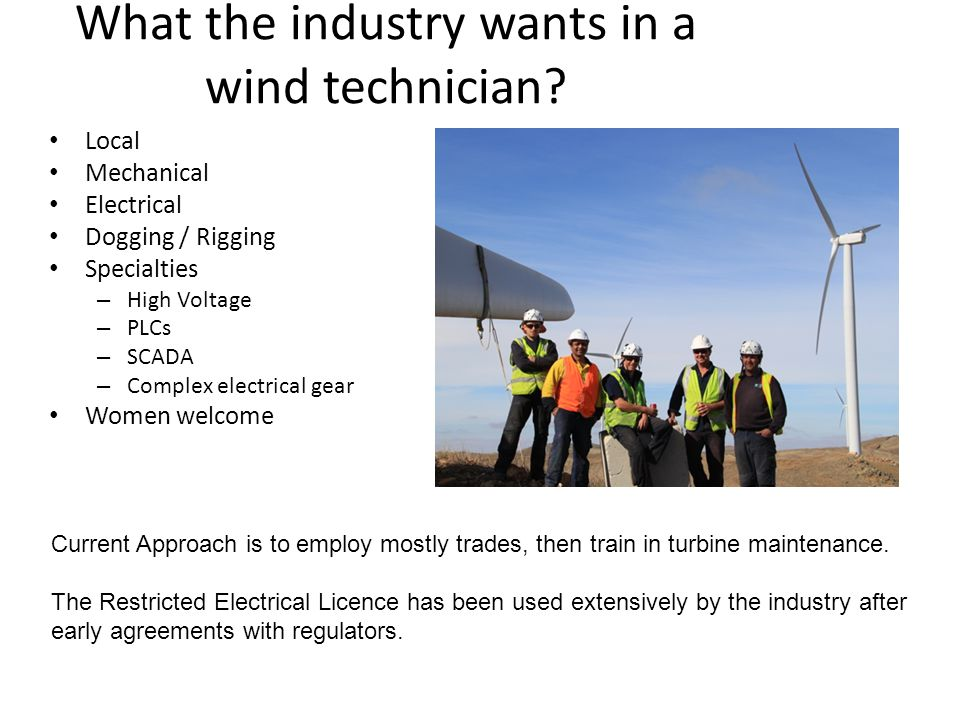 What the industry wants in a wind technician.