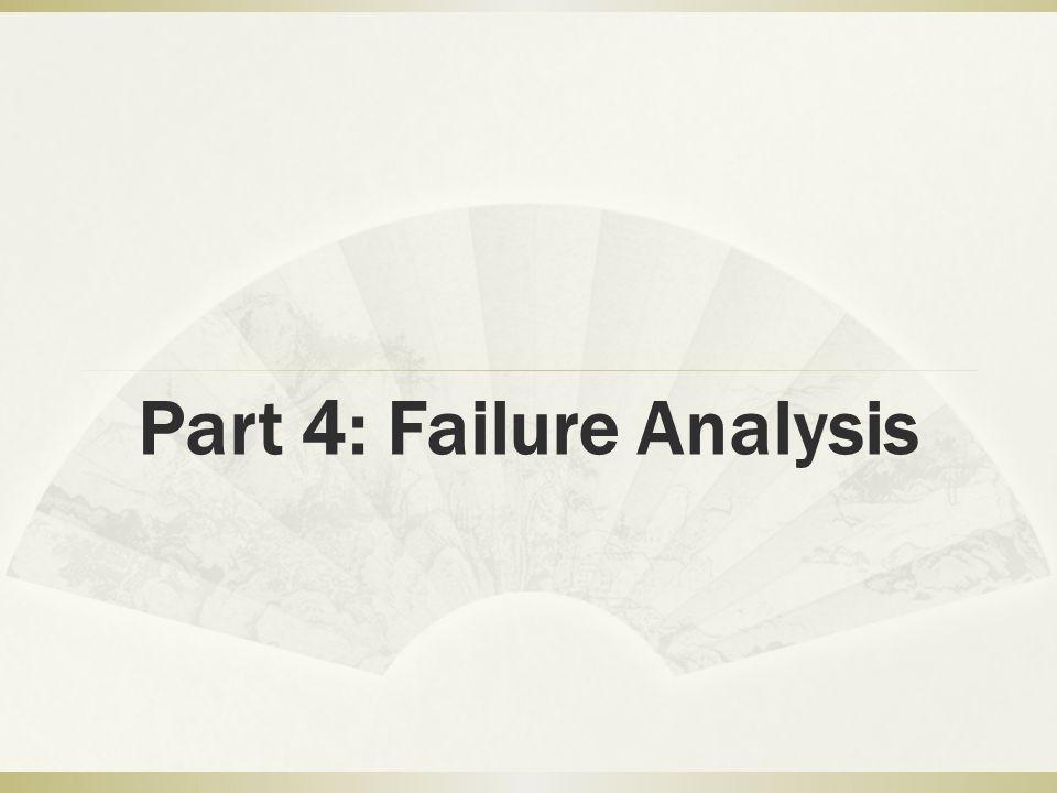 Part 4: Failure Analysis