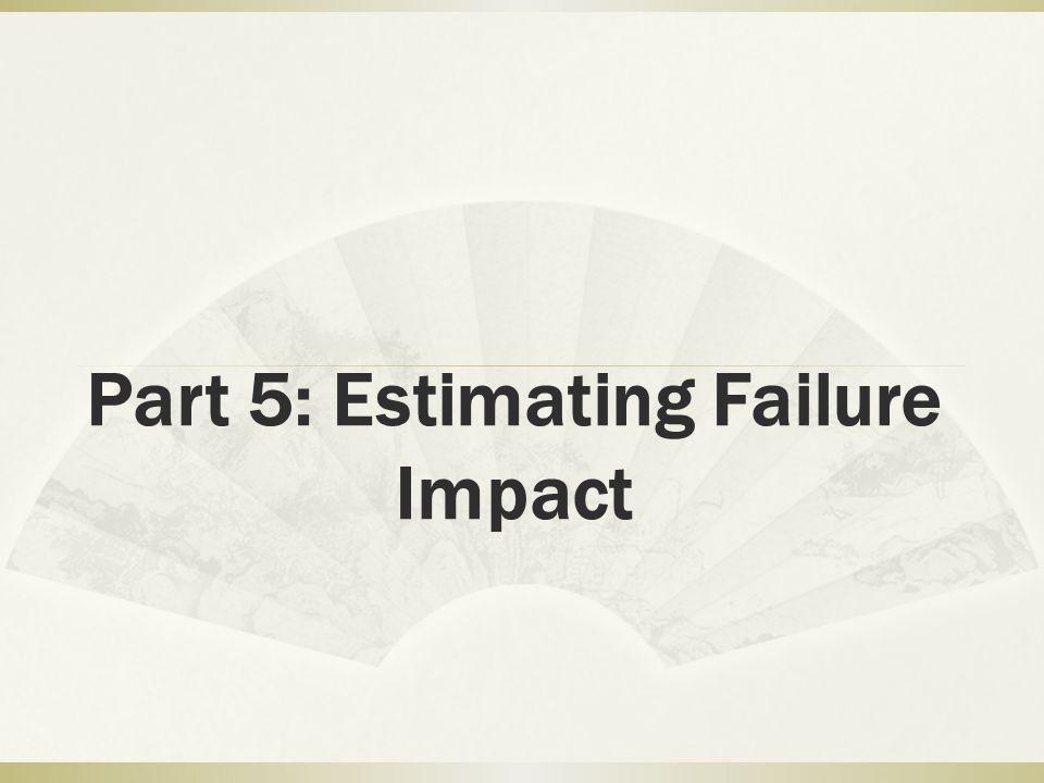 Part 5: Estimating Failure Impact