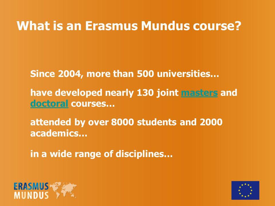 What is an Erasmus Mundus course.