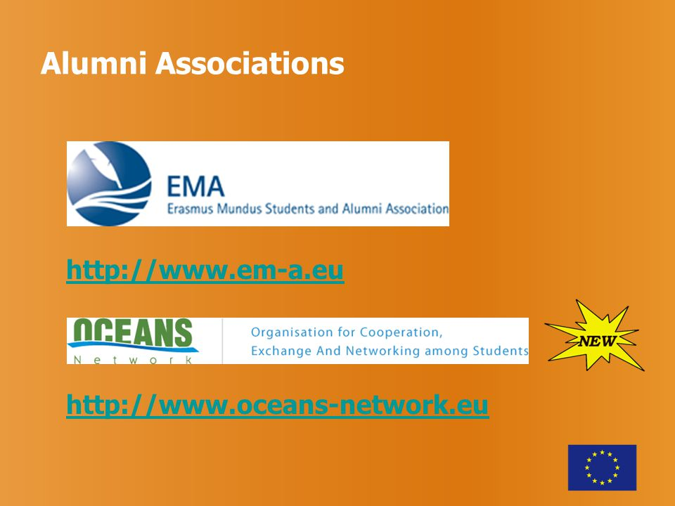 Alumni Associations http://www.em-a.eu http://www.oceans-network.eu