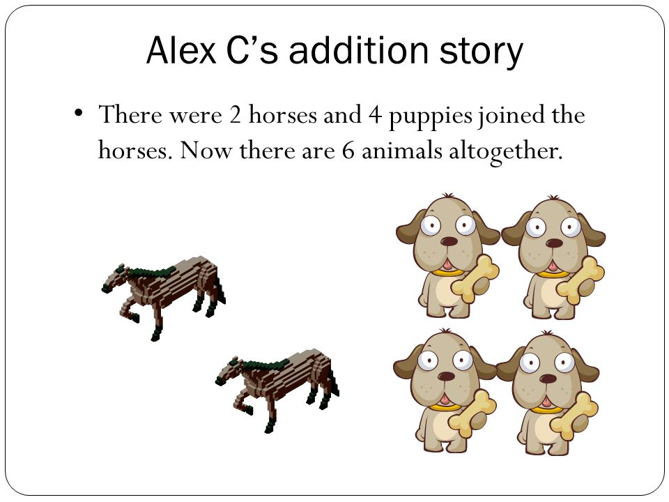 Jedd's addition story There were 3 bears and two ducks came along.